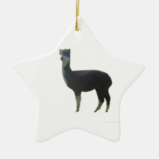 Female alpaca christmas ornament