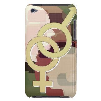Female and male symbols interlocked (Digitally iPod Case-Mate Cases