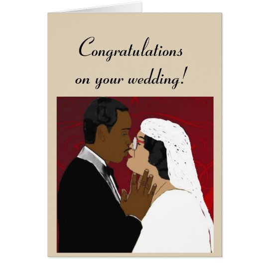 Female and male wedding card