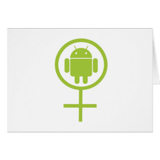 Female Android Sign Symbol Greeting Cards
