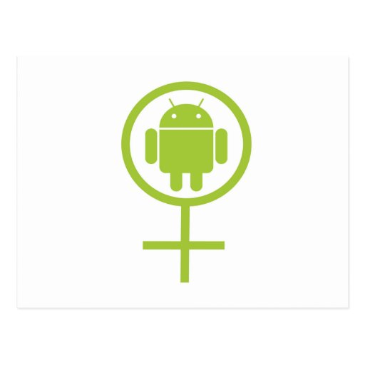 Female Android (Sign / Symbol) Postcard