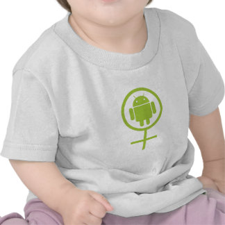 Female Android Sign Symbol Tshirts