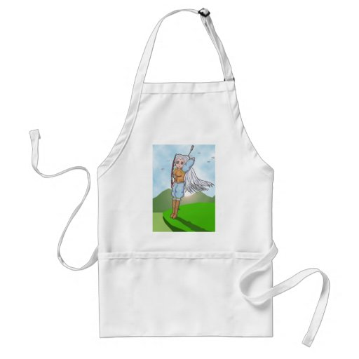 Female Archer Anime Art Gallery Character Apron
