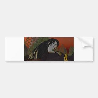 Female avatar bumper sticker