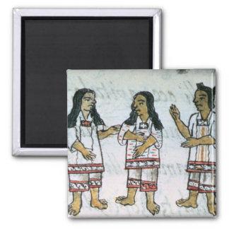 Female Aztec costumes Magnet