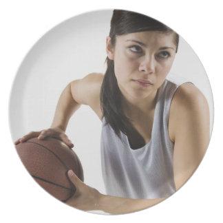 Female basketball player plate
