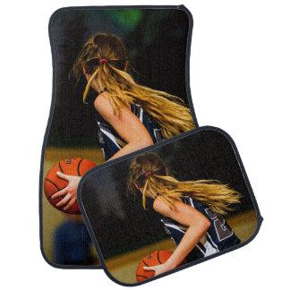 Female Basketball Player Set of 4 Car Mats