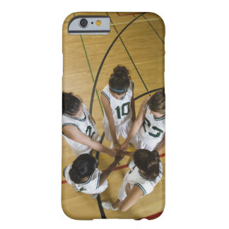 Female basketball team having group handshake, barely there iPhone 6 case