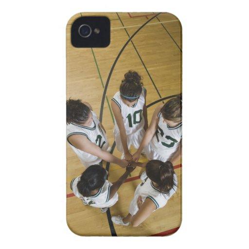 Female basketball team having group handshake, Case-Mate iPhone 4 cases