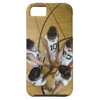 Female basketball team having group handshake, tough iPhone 5 case