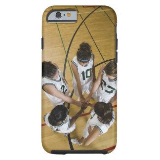 Female basketball team having group handshake, tough iPhone 6 case