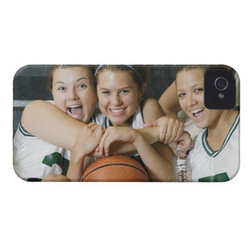 Female basketball team smiling, portrait Case-Mate iPhone 4 case