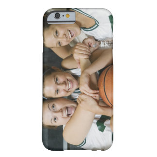 Female basketball team smiling, portrait barely there iPhone 6 case