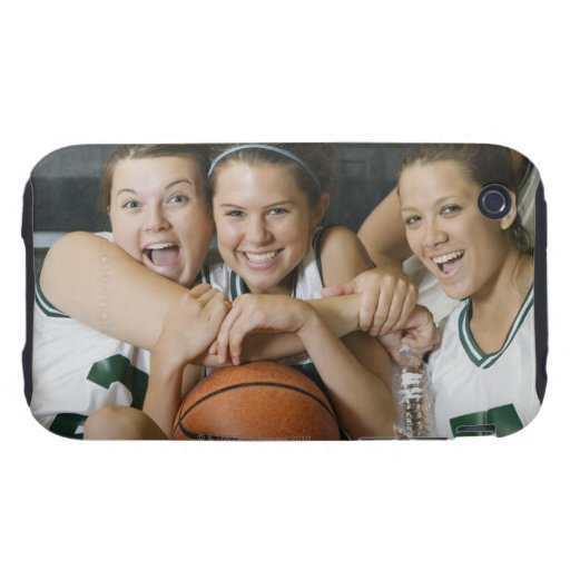 Female basketball team smiling, portrait iPhone 3 tough cover