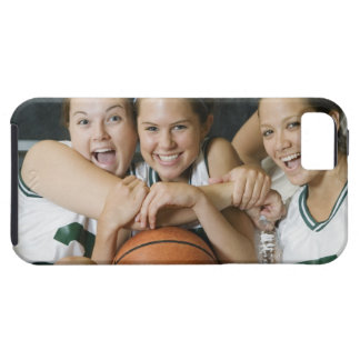Female basketball team smiling, portrait case for the iPhone 5