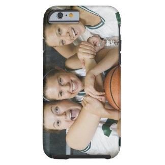 Female basketball team smiling, portrait tough iPhone 6 case
