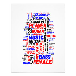 Female bass player wordle 1 red blue black invites