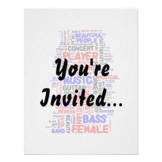 Female bass player wordle 1 red blue black custom invites