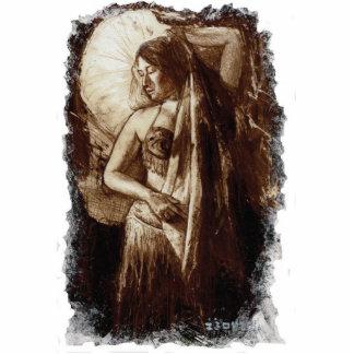 Female Belly Dancer with a Veil Sculpture Standing Photo Sculpture