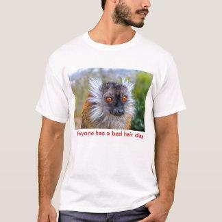 Female black lemur - bad hair day T-Shirt