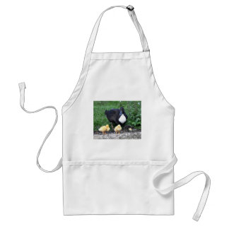 Female Blue Swedish Duck and Ducklings Adult Apron