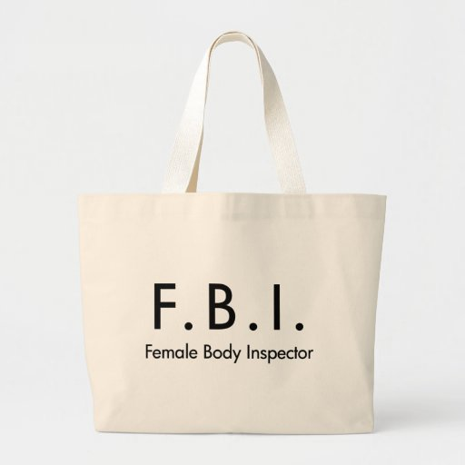 Female Body Inspector Canvas Bags