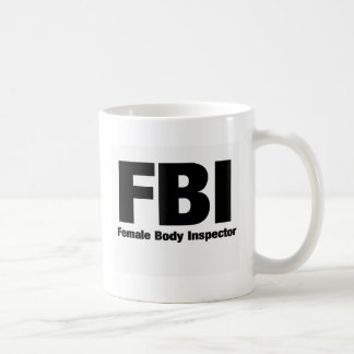 Female Body Inspector Basic White Mug