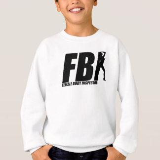 Female Body Inspector Black Sweatshirt
