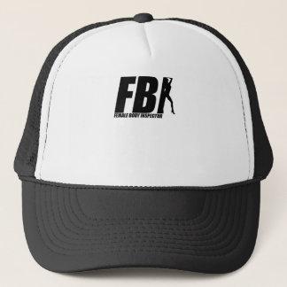 Female Body Inspector Black Trucker Hat