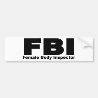 Female Body Inspector Bumper Sticker