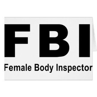 Female Body Inspector Card