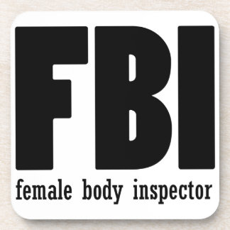 Female Body inspector Beverage Coaster