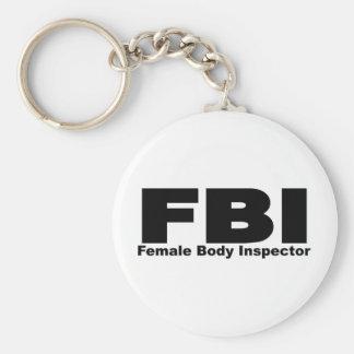 Female Body Inspector Key Ring