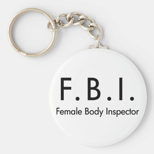Female Body Inspector Keychains