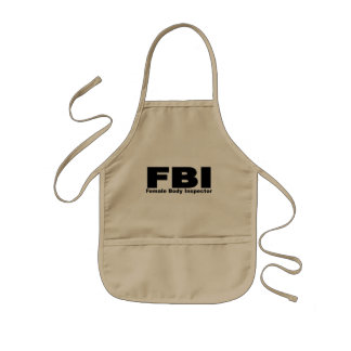 Female Body Inspector Kids Apron