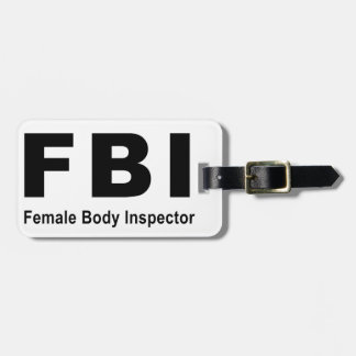 Female Body Inspector Bag Tag