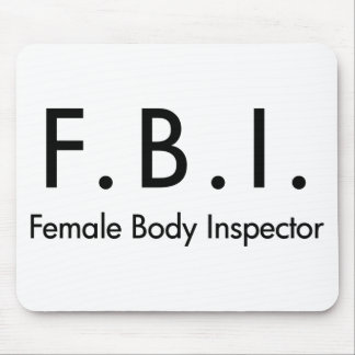 Female Body Inspector Mousepads