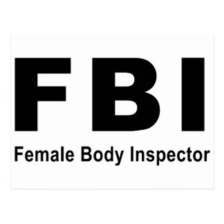 Female Body Inspector Postcard