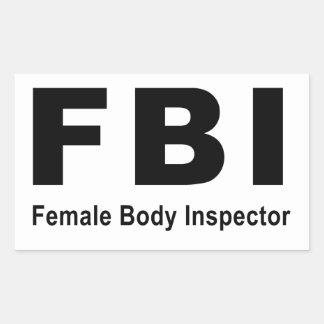 Female Body Inspector Rectangular Sticker