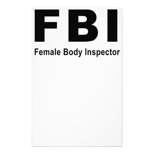 Female Body Inspector Stationery Paper
