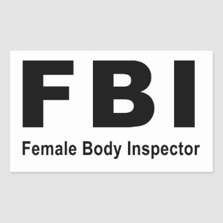 Female Body Inspector Rectangular Stickers