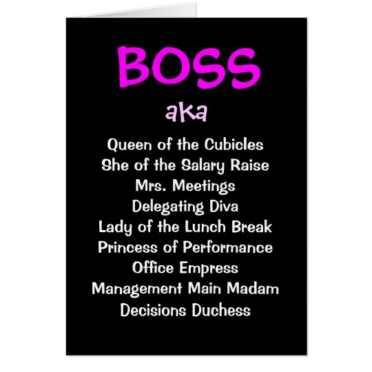 Female Boss Joke Funny Christmas Card