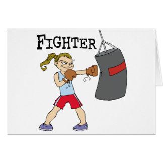 Female Boxer Card