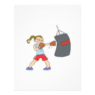 Female Boxer Full Color Flyer