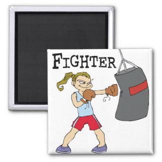 Female Boxer Refrigerator Magnets