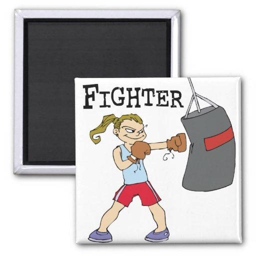 Female Boxer Refrigerator Magnets