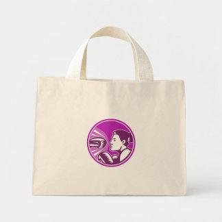 Female Boxer Punch Retro Bags
