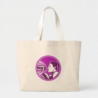 Female Boxer Punch Retro Tote Bag
