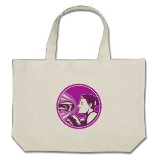 Female Boxer Punch Retro Bag