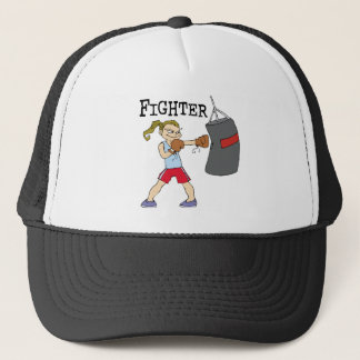 Female Boxer Trucker Hat